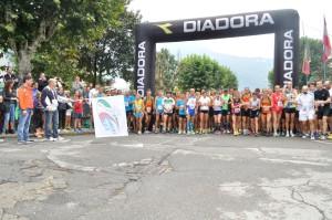 La partenza del Giro dei Montecchi